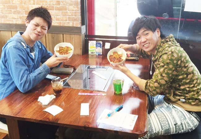 奈良県より カルビー&ロース丼