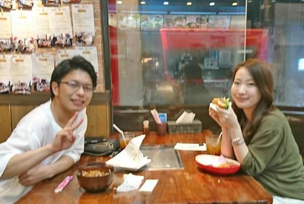 ハンバーガー カルビ&ロース丼