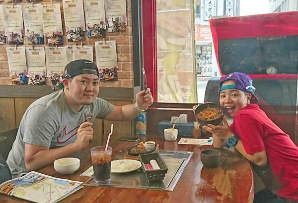 ハンバーグステーキ&カルビー・ロース丼